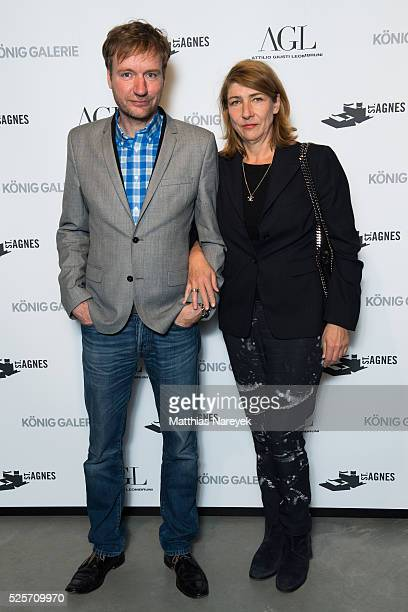 Tim Renner and Petra Husemann attend an exclusive dinner hosted by AGL and Koenig Galerie to celebrate the 'Gallery Weekend Berlin' on April 28 2016...