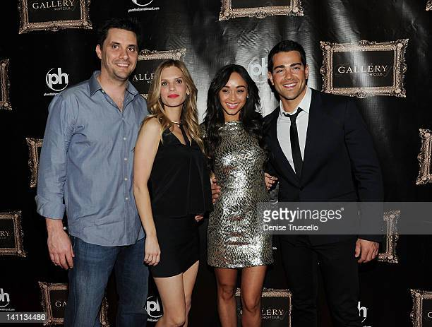 Tim Rettley Michele Nordin Cara Santana and Jesse Metcalfe arrive to celebrate new Dallas TV show at Gallery Nightclub on March 10 2012 in Las Vegas...