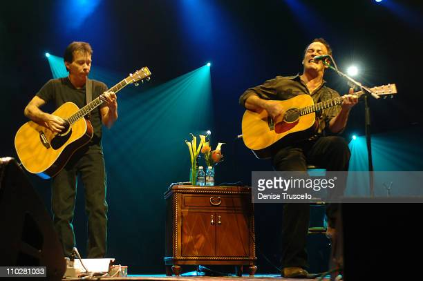 Tim Reynolds and Dave Matthews during Dave Matthews and Tim Reynolds in Concert at The Aladdin Hotel and Casino Resort in Las Vegas October 28 2005...