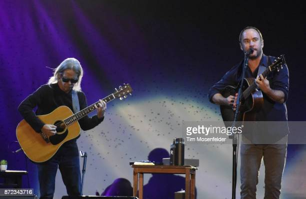 Tim Reynolds and Dave Matthews perform during Band Together Bay Area Fire Benefit Concert at ATT Park on November 9 2017 in San Francisco California