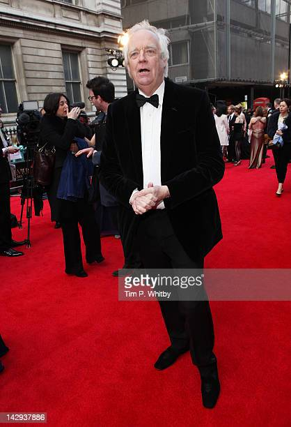 Tim Rice attends the 2012 Olivier Awards at The Royal Opera House on April 15 2012 in London England