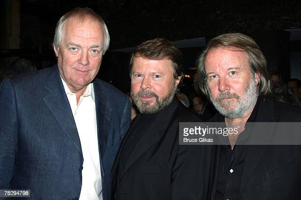 Tim Rice with Bjorn Ulvaeus and Benny Andersson of ABBA