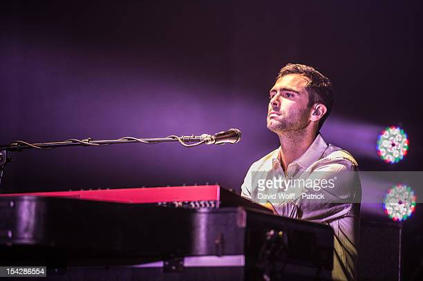 Tim Rice-Oxley of Keane performs at L'Olympia on October 17, 2012 in Paris, France.