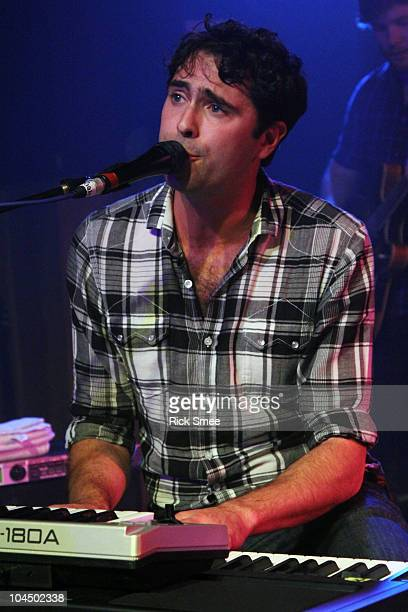 Tim Rice-Oxley of Mt. Desolation performs on stage at Scala on September 27, 2010 in London, England.
