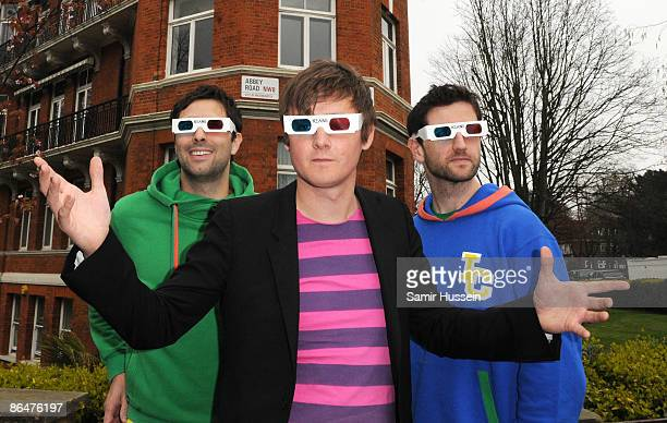 Tim RiceOxley Tom Chaplin and Richard Hughes of Keane pose on Abbey Road ahead of the first ever live 3D broadcast from Abbey Road studios on April 2...