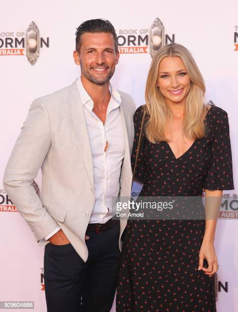 Tim Robards and Anna Heinrich arrive ahead of The Book of Mormon opening night at the Lyric Theatre Star City on March 9 2018 in Sydney Australia