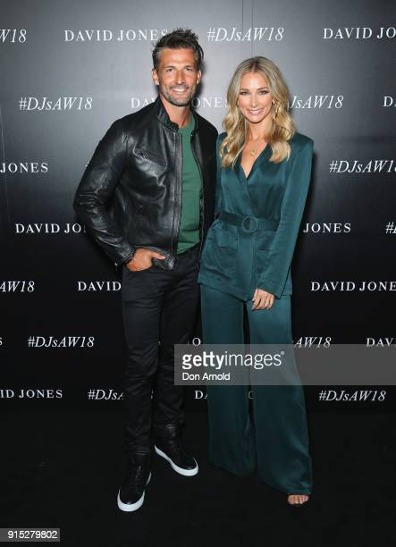 Tim Robards and Anna Heinrich arrive ahead of the David Jones Autumn Winter 2018 Collections Launch at Australian Technology Park on February 7 2018...