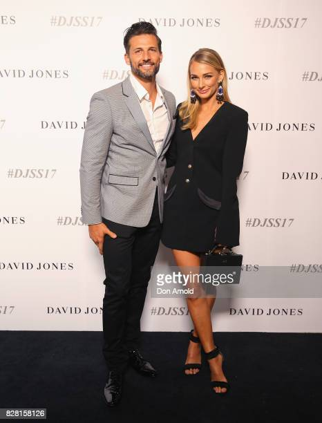Tim Robards and Anna Heinrich arrive ahead of the David Jones Spring Summer 2017 Collections Launch at David Jones Elizabeth Street Store on August 9...