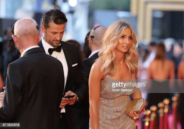 Tim Robards and Anna Heinrich arrive at the 59th Annual Logie Awards at Crown Palladium on April 23 2017 in Melbourne Australia