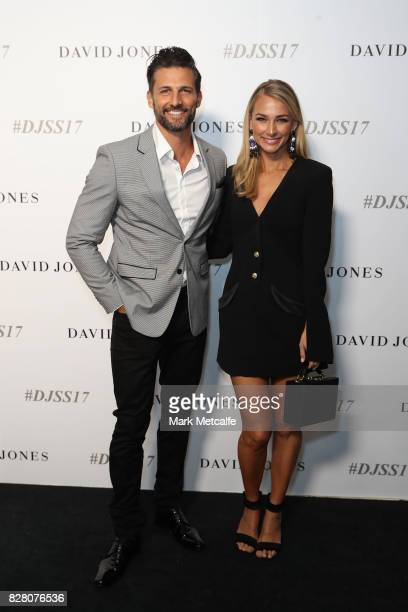 Tim Robards and Anna Heinrich arrives ahead of the David Jones Spring Summer 2017 Collections Launch at David Jones Elizabeth Street Store on August...