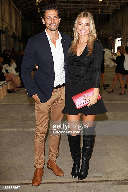 Tim Robards and Anna Heinrich attend the Alice McCall show during MercedesBenz Fashion Week Australia 2014 at Carriageworks on April 10 2014 in...