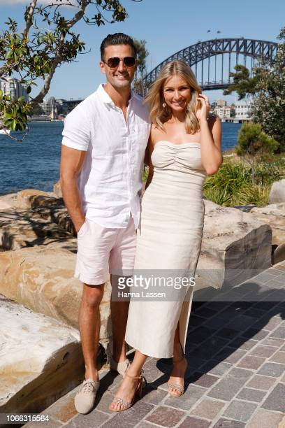 Tim Robards and Anna Heinrich attend The Iconic Swim Show at Barangaroo Reserve on November 29 2018 in Sydney Australia