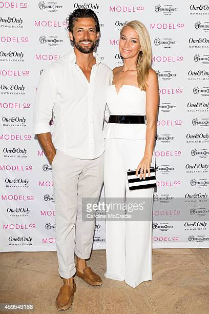 Tim Robards and Anna Heinrich attend the ModelCo Women of Influence event at OneOnly Hayman Island on November 25 2014 in Hayman Island Australia