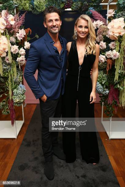 Tim Robards and Anna Heinrich attend the Myer Fashion Runway show on March 16 2017 in Sydney Australia