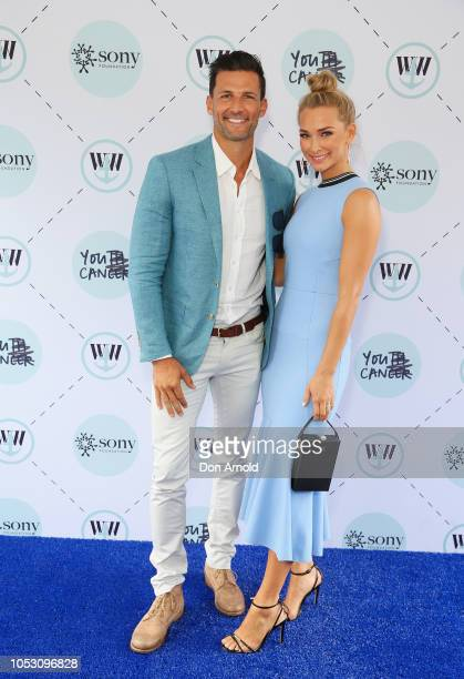 Tim Robards and Anna Heinrich attend Wharf4Ward 2018 on October 25 2018 in Sydney Australia Wharf4Ward is Sony Foundation's annual fundraiser which...