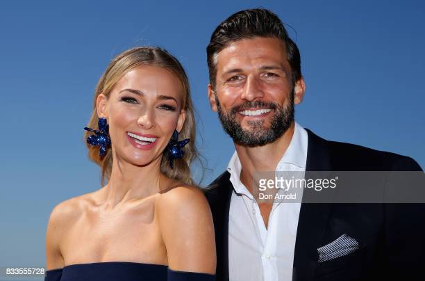Tim Robards and Anna Heinrich pose at the Myer Spring 2017 Fashion Launch on August 17 2017 in Sydney Australia