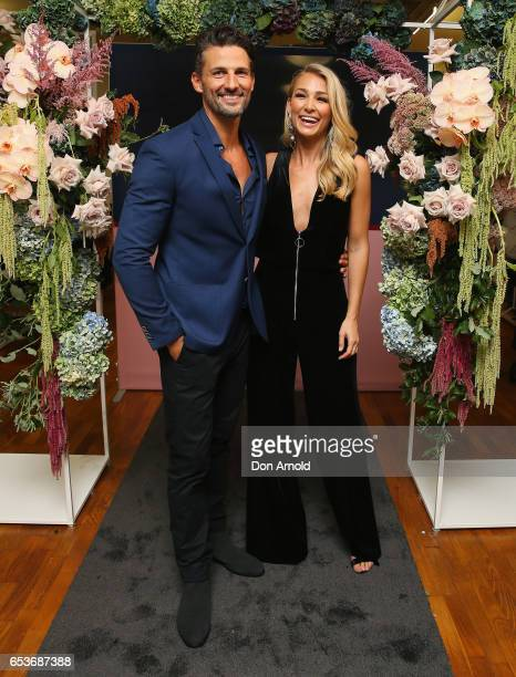 Tim Robards and Anna Heinrich pose during the Myer Fashion Runway show on March 16 2017 in Sydney Australia