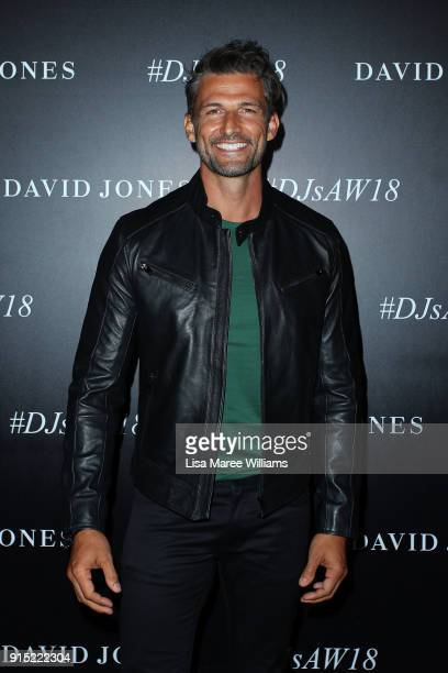 Tim Robards arrive ahead of the David Jones Autumn Winter 2018 Collections Launch at Australian Technology Park on February 7 2018 in Sydney Australia
