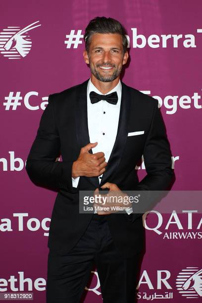 Tim Robards arrives at the Qatar Airways Canberra Launch gala dinner on February 13 2018 in Canberra Australia