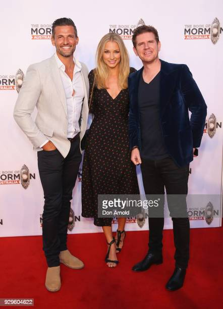 Tim RobardsAnna Heinrich and Sam Mac arrive ahead of The Book of Mormon opening night at the Lyric Theatre Star City on March 9 2018 in Sydney...