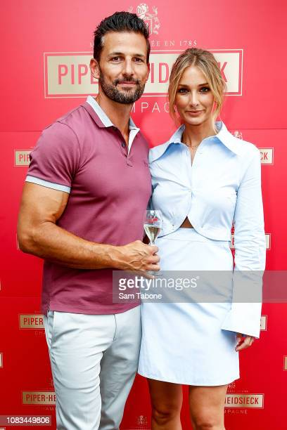 Tim Robbards and Anna Heinrich during PiperHeidsieck Australian Open Cocktail Party on January 17 2019 in Melbourne Australia