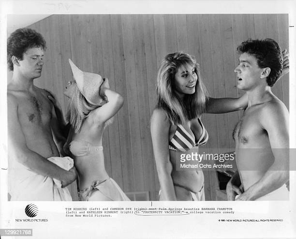Tim Robbins And Cameron Dye in a scene from the film 'Fraternity Vacation' 1985