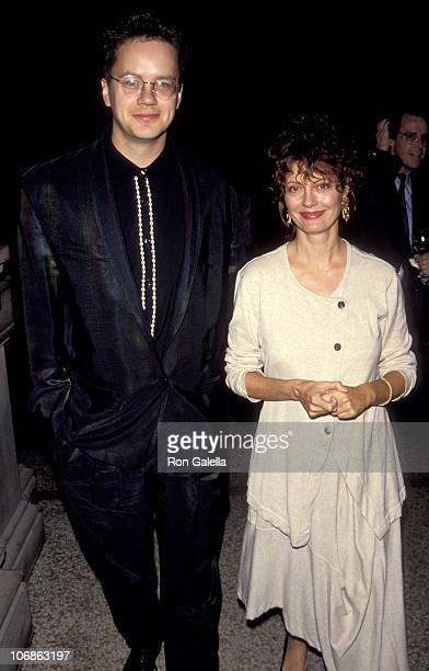 """Tim Robbins and Susan Sarandon during Premiere of """"Avalon"""" in New York at Metropolitan Museum of Art in New York City, New York, United States."""
