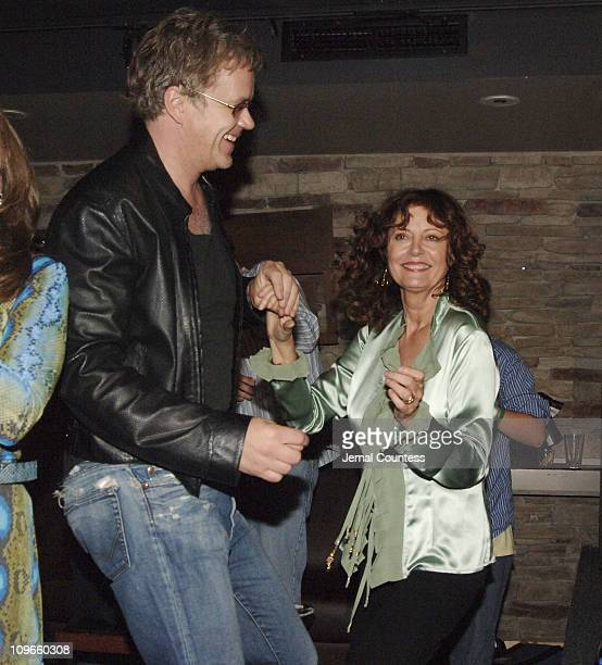 Tim Robbins and Susan Sarandon during Susan Sarandon Hosts a Benefit for Victims of Hurricane Katrina and the Musicians of NOLA at The Crash Mansion...