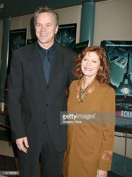 "Tim Robbins and Susan Sarandon during Universal Pictures and Jonathan Demme Host A Special Screening of ""The Truth About Charlie"" at The Walter Reade..."