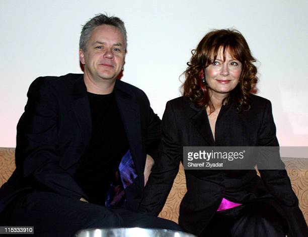 Tim Robbins and Susan Sarandon during Wyclef Jean's Yele Haiti Fundraiser 2004 at Glo in New York City New York United States