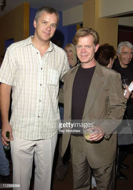 "Tim Robbins and William H. Macy during ""The Guys"" Opening Night Benefit Performance at The Actors' Gang Theater in Hollywood, California, United..."