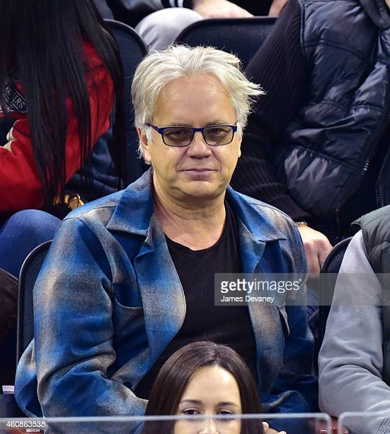 Tim Robbins attends New York Rangers vs New Jersey Devils game at Madison Square Garden on December 27 2014 in New York City
