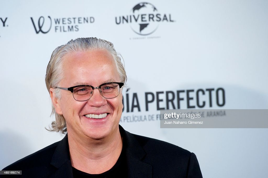 Tim Robbins attends 'Un Dia Perfecto' photocall at Villamagna Hotel on August 25, 2015 in Madrid, Spain.