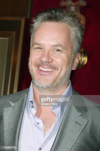 "Tim Robbins during ""War of the Worlds"" New York City Premiere - Inside Arrivals at Ziegfeld Theater in New York City, New York, United States."