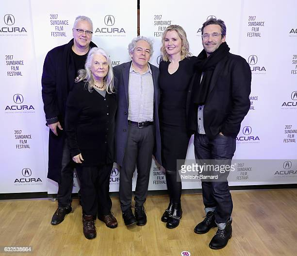Tim Robbins Lois Smith Michael Almereyda Geena Davis and Jon Hamm attend the 'Marjorie Prime' Party at the Acura Studio at Sundance Film Festival...