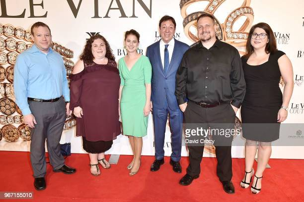 Tim Robison Dani Sue Shirley Amanda Bjerke Eddie LeVian Allen Easterling and Alexandra Renteria attend the Le Vian 2019 Red Carpet Revue on June 3...