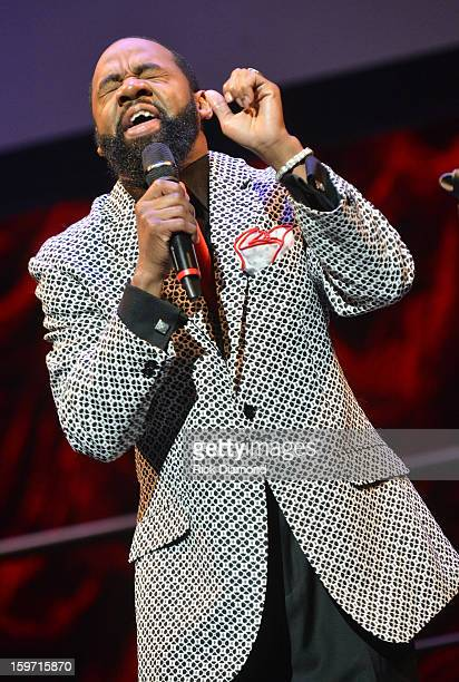 Tim Rogers of Tim Rgers The Fellas performs during the 28th Annual Stellar Awards PreShow at the Tennessee Performing Arts Center on January 18 2013...