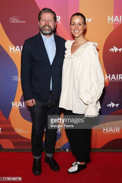 Tim Ross and Michelle Ross attend HAIR The Musical Opening Night at Sydney Opera House on October 03 2019 in Sydney Australia