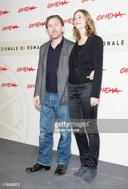 Tim Roth and Alexandra Maria Lara attends the 'Youth Without Youth' photocall during Day 3 of the 2nd Rome Film Festival on October 20 2007 in Rome...
