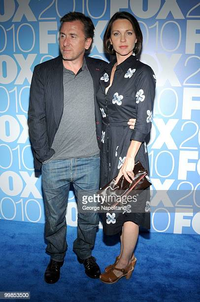Tim Roth and Kelli Williams attend the 2010 FOX UpFront after party at Wollman Rink Central Park on May 17 2010 in New York City