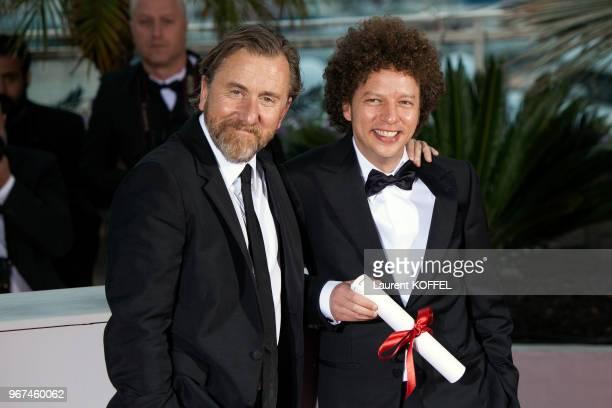 Tim ROTH et Michel FRANCO au Photocall du Palmarès du 68e Festival de Cannes au Palais des Festivals le 24 mai 2015 Cannes France Film CHRONIC