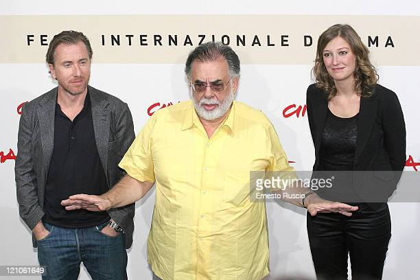 Tim Roth Francis Ford Coppola Alexandra Maria Lara at photo call of film Youth Without Youth at Rome Cinema Fest on October 20 2007 in Rome Italy