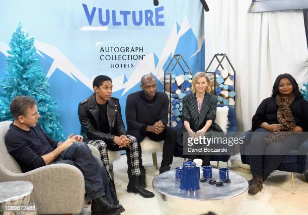 Tim Roth Kelvin Harrison Jr Julius Onah Naomi Watts and Octavia Spencer attend the Vulture Spot during Sundance Film Festival on January 26 2019 in...