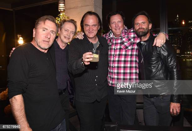 Tim Roth Steve Buscemi Quentin Tarantino Michael Madsen and Walton Goggins attend 1 Hotel Brooklyn Bridge celebrates 25th Anniversary of 'Reservoir...