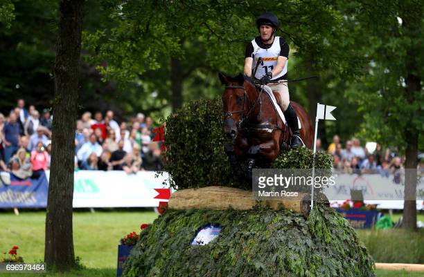 Tim Rusbridge of New Zealand rides Oneforthenotebook during the CIC 4 star cross country at the Messmer Trophy on June 17 2017 in Luhmuhlen Germany
