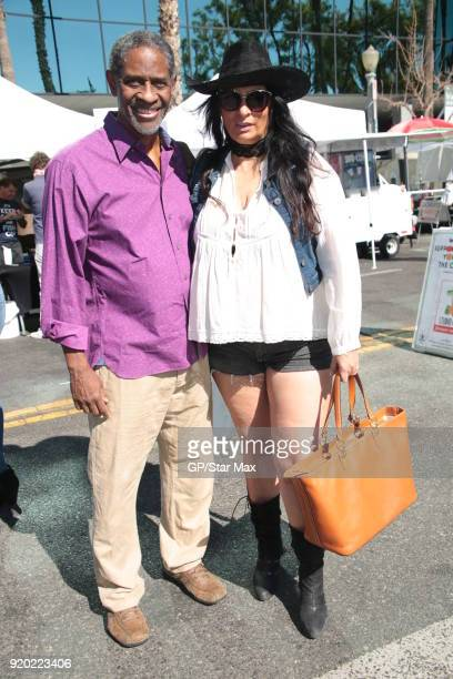 Tim Russ and Alice Amter are seen on February 18 2018 in Los Angeles CA