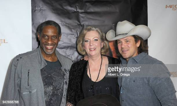 Tim Russ Deborah Hartwell and Christian Kane arrive for the Los Angeles Premiere of 'Miles To Go' held at Writers Guild Theater on April 5 2018 in...