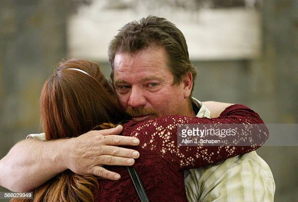 Tim Samsoe of Norco hugs his wife Teresa Samsoe after Rodney James Alcala was convicted of killing Tim's sister Robin Samsoe when she was 12 years...