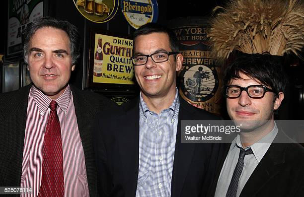 Tim Sanford Adam Bock and Trip Cullman attending the opening Night Party for Playwrights Horizons' World Premiere Production of 'A Small Fire' at...