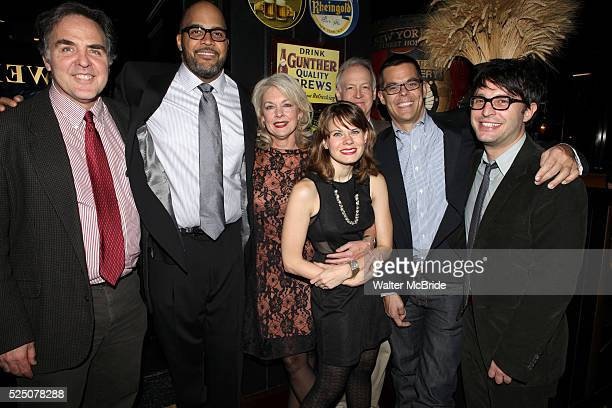 Tim Sanford Victor Williams Michele Pawk Reed Birney Celia KeenanBolger Adam Bock and Trip Cullman attending the opening Night Party for Playwrights...